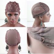 Dreambeauty Brown Colour Wig Cap Full Cap and U Part Wig Cap for Making Wigs