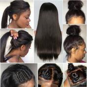 CLbuxi Hair 8A Brazilian Remy Virgin Hair Full Lace Wigs Straight Human Hair Glueless Lace Front Wigs for Black Women Full Lace Human Hair Wigs with Baby Hair