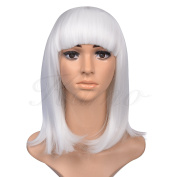 Kamo 36cm Supple Neat Bangs Shoulder-Length Straight Women & Girls Cosplay Party Wig