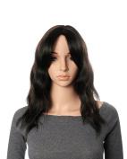 OneDor 48cm Full Head Wavy Kanekalon Black Auburn Highlight Hair Wig Extensions
