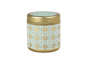 Kaleidoscope Collection Soy Wax Gold Travel Tin Candle, Mistletoe & Mint