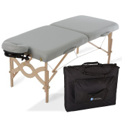 EARTHLITE Avalon Premium Portable Massage Table Package - Incl. Carry Case, Flex-Rest Self-Adjusting Face Cradle & Form-Fit Memory Cushion