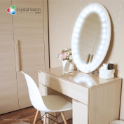 Crystal Vision Hollywood Style Makeup Mirror LED Light Kit Provided by for Samsung for Cosmetic Mirror Vanity Mirror w/ Dimmer Controller (100 LED Bulb / 3m) [Dome Cool White]