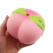 tkonline 4 new jumbo kawaii peach squishy super slow rising scented bread toy gift