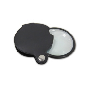 Magnifier Portable Pocket Loupe Scratch Resistant Reading Magnifying Glass With Faux Leather Cover Case