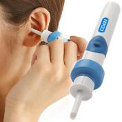 Blue Pocket Ear Cleaner Wax Electric Massage Removal Kit Soft Ear Wax Cleaner Ear-pick Curett