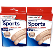 Cushioned Sports Assorted Plasters - 300cm total - Box contains 2 sizes