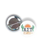 Alpha Sigma Tau Sunset Cactus 5.7cm Button