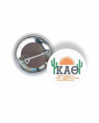 Kappa Alpha Theta Sunset Cactus 5.7cm Button