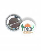 Gamma Phi Beta Sunset Cactus 5.7cm Button