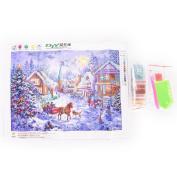 Datingday 5D DIY Diamond Painting Kit Christmas Beautiful Town Stitch Home Living Room Decor