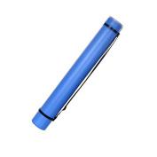 Art Tube Documents Blueprints Artwork Hard Plastic Telescoping Carrying Case Tube, Blue