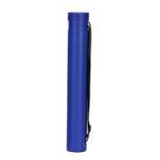 Telescopic Drawing Cylinder Plastic Painting Tube Poster Tube Carrying Case with Strap, Blue