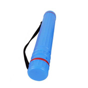 Plastic Storage Tube Holder Telescoping For Posters, Artwork and Drawings- Blue