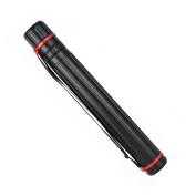 Strong Plastic Storage Tube Holder Telescoping Art Carrying Case Tube, Black