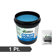 Ecotex DC-BLUE - Textile Dual-Cure Screen Printing Emulsion