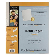 C.R. Gibson Scrapbook Top Loading Refill Pages, 3 Packs of 5 Sheets - 22cm . X 28cm .