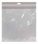 23cm Silver Glitter Tulle Circle 25-Count