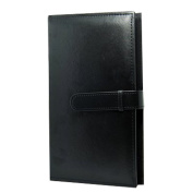 Forusky 300 Pockets PU Leather 13cm Photo Instax Album Book for Fuji Instax Wide 300, Wide 210, FP 3000B, FP100C Films - Black