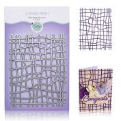 Lattice Background Cutting Die – Curved Mesh Metal Die for DIY Greeting Card Making, Scrapbooking, Paper Crafting Supplies – Net Die Cut by Matty's Crafting Joy