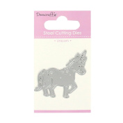 Trimcraft Dovecraft Mini Metal Paper Card Craft Die Set - Unicorn With Star