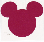 Assorted Mickey Mouse Head Shape Die Cuts - Red, Green, White - 120pc