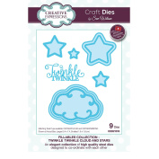 Creative Expressions Craft Die CED21015 Sue Wilson Fillables Collection - Twinkle Twinkle Cloud & Stars