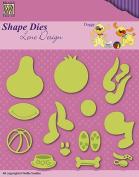 Nellie's Choice Shape Dies - Doggy Set - SDL047