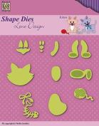 Nellie's Choice Shape Dies - Kitten Set - SDL046