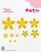 Nellie's Choice Shape Dies - Poinsettia - SD138
