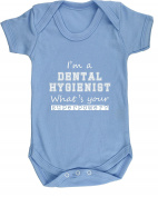 Hippowarehouse I'm A Dental Hygienist What's Your Superpower. baby vest bodysuit (short sleeve) boys girls