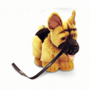 Keel Toys Standing Alsatian Dog Plush Toy On Lead (One Size)