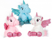 23cm Sitting Unicorn Wing Plush Soft Stuffed Cuddly Kid Girls Pink Teddy Toy Gift
