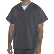 myGuardian with Vestex Protection 403_PW_2XL Unisex 1 Pocket Scrub Top, XX-Large, Pewter