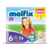 "Nappies Size 15cm Extra Large"" Molfix Baby Nappies Jumbo Pack x 36 nappies"