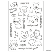 Cartoon Lovely Dogs Design Clear Stamps for Scrapbooking DIY Photo Decoration Card Marking Crafts Supplies