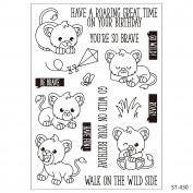 Cartoon Cute Lion Design Clear Stamps for Scrapbooking DIY Photo Decoration Card Marking Crafts Supplies