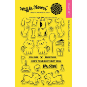 271107 Waffle Flower Crafts Clear Stamps 10cm x 15cm -Pawsome