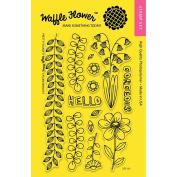 Waffle Flower Crafts Clear Stamps 10cm x 15cm -Pretty Foliage
