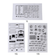 3 Sheet Clear Silicone PVC Eco-friendly Rubber Stamp for DIY Scrapbook Notebook Decoration