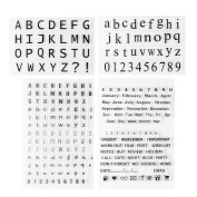 4 Pcs Alphabet Numbers Transparent Silicone Stamp Seal for DIY Scrapbook Accounting Note
