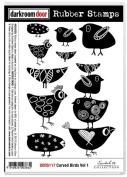 Darkroom Door Cling Stamps 18cm x 13cm -Carved Birds Vol. 1
