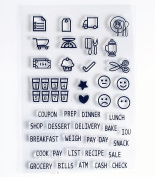 Cook Pay Day Sentiments Series Clear Rubber stamp for DIY Scrapbooking