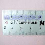 CUFF WIDTH RULER 30cm X 5.1cm - 0.6cm aluminium CUFF-WIDE RULER