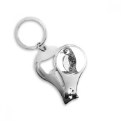 Penguin Human Paint Quiet Baby Key Chain Ring Multi-function Nail Clippers Bottle Opener Gift