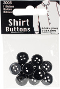 Shirt & Collar Buttons-Grey 11/Pkg