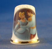 Porcelain China Collectable Thimble -- Fairy Tale Cinderella with Free Gift Box
