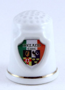 Ireland Souvenir Collectible Lpco Thimble