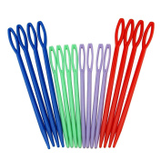 WEIYI 16Pcs Colourful Plastic Sewing Needles Set for Sewing Tools