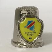 "Country ""Democratic Republic of the Congo "" Souvenir Thimble"